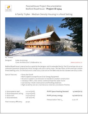 Passive House Designer Consultant Project Documentation